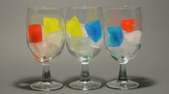 Ice Cubes Melting Stock Footage