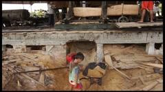 Amazonian Sawmill Stock Footage