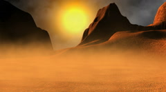 Desolate landscape on a distant planet - stock footage