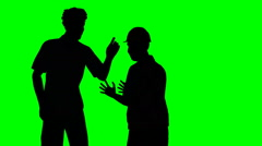 Two men arguing on a green screen Stock Footage
