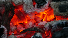 Hot Coal Campfire Stock Footage