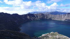 Quilotoa Lake in the Andes Stock Footage