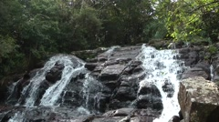 Waterfall in Montane Forest Stock Footage