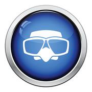Icon of scuba mask Stock Illustration