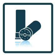 Hunt gun ammo icon - stock illustration