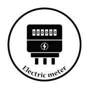Electric meter icon - stock illustration
