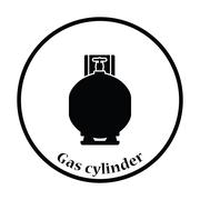 Gas cylinder icon - stock illustration