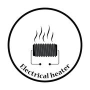 Electrical heater icon - stock illustration