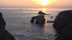 Atlantic Ocean, Land's End, Cornwall, UK Stock Footage