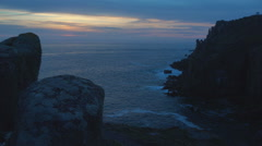 Land's End: Atlantic Ocean and Rocky Cliffs Stock Footage