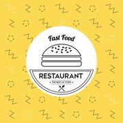 Hambuger icon. Food and Menu design. Vector graphic Stock Illustration