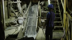 Mineral Processing at a Tin Mine Stock Footage