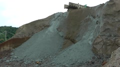 Open Pit Tin Mine in SE Asia Stock Footage