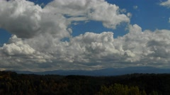 Cumulus Clouds and Appalachian Mountains Stock Footage