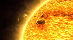 Surface Of The Sun Stock Footage