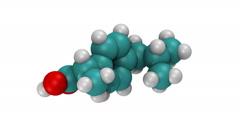 Ibuprofen, molecular model Stock Footage