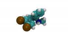 Zoloft, molecular model Stock Footage