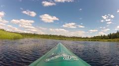 Flat-water Kayaking Stock Footage