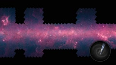 Panning Through The Milky Way Galaxy Stock Footage