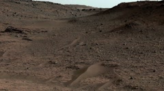 Curiosity in Gale Crater - stock footage