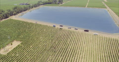 Aerial drone view of Napa Valley vineyards Stock Footage