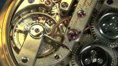 Gears and mechanism of a stopwatch Stock Footage