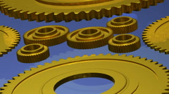 Computer animation of gear mechanisms Stock Footage