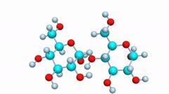Molecular model of the formation of a glycosidic bone Stock Footage