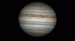 Animation of the planet jupiter Stock Footage