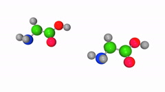 Molecular model of peptide bond formation Stock Footage