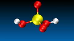 Molecular model of sulfuric acid Stock Footage