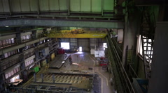 Workers work in the shipbuilding hall. Heavy Industry. Stock Footage