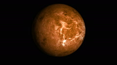 Rotating looping animation of the planet venus Stock Footage