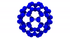 3D computer generated model of buckminsterfullerene - stock footage
