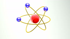Structure of the atom Stock Footage