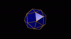 Snub cube, left-handed polyhedron Stock Footage