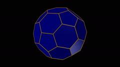 Truncated icosahedron Stock Footage