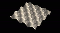 Egg carton mathematical surface Stock Footage