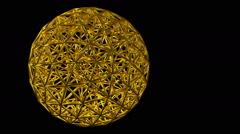 Geodesic sphere Stock Footage