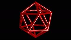 Icosahedron Stock Footage