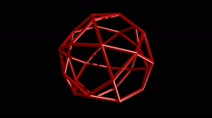 Icosidodecahedron Stock Footage