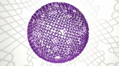 Spherical wire mesh Stock Footage