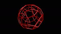 Rhombicosidocehedron Stock Footage