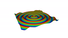 Animation of sinusoidal waves Stock Footage
