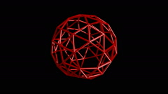 Left-Handed snub dodecahedron Stock Footage
