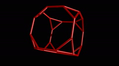 Truncated cube Stock Footage