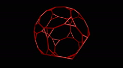 Truncated dodecahedron Stock Footage
