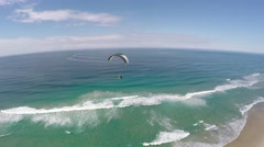 Powered Paraglider Beach Flying Stable 4K #1 Stock Footage