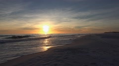 Sunset:  Gulf of Mexico, Florida Panhandle Stock Footage