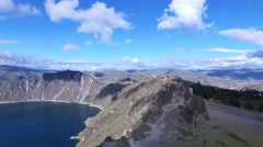 Flying along the Edge of Quilotoa Stock Footage